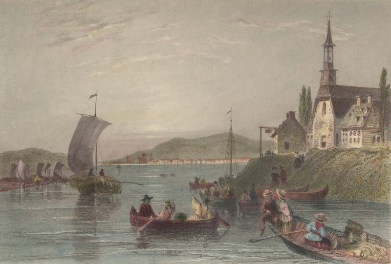 Canadian Scenery Illustrated: Volume 2 - Scene on the River St. Laurence (1865)