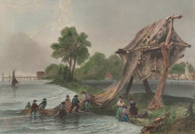 Canadian Scenery Illustrated: Volume 2 - Wellington, on Lake Ontario (Fishing Nets) (1865)