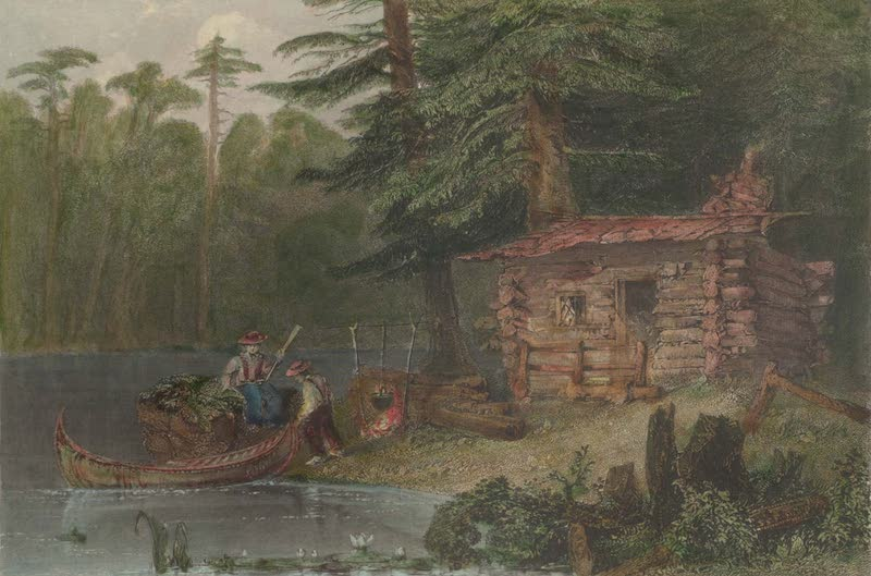 Canadian Scenery Illustrated: Volume 2 - A Shanty on Lake Chaudiere (Canada) (1865)