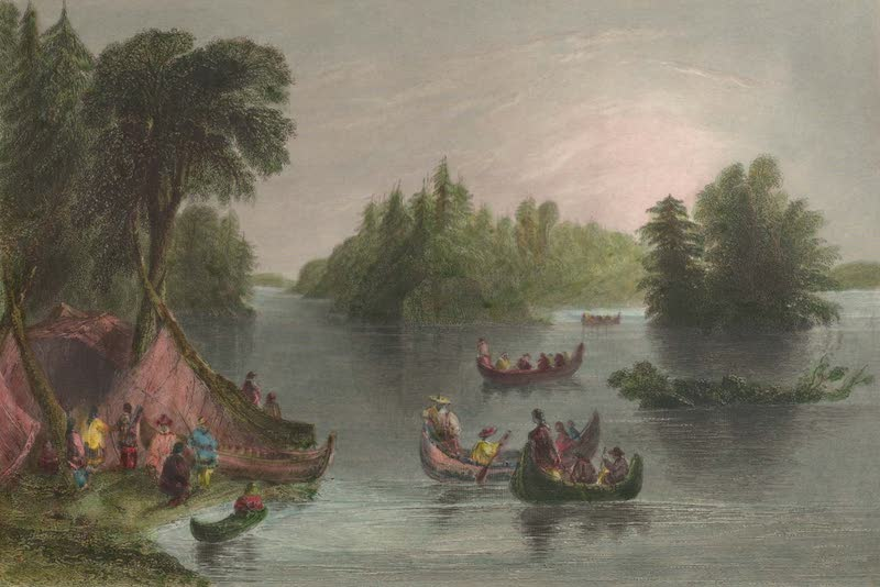 Canadian Scenery Illustrated: Volume 2 - Indian Scene on the St. Laurence (1865)