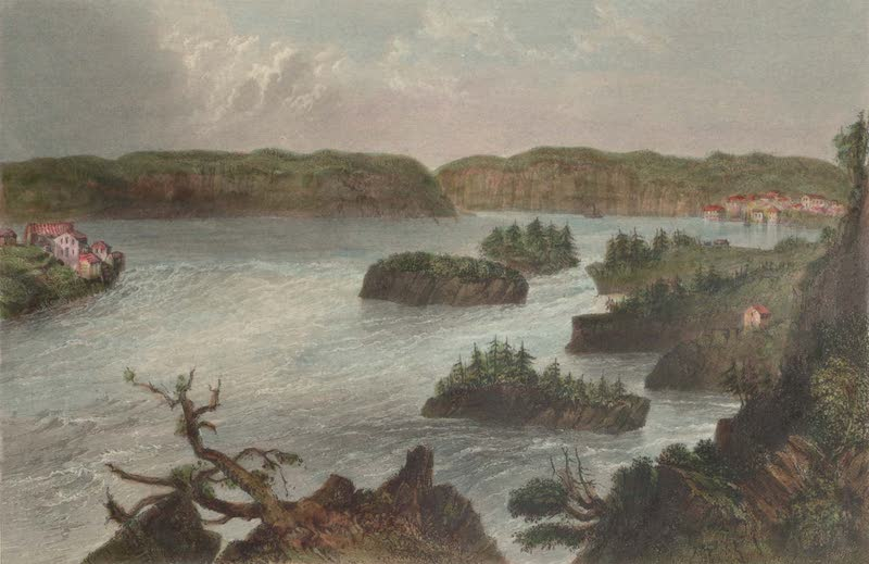 Canadian Scenery Illustrated: Volume 2 - Falls on the St. John River (1865)