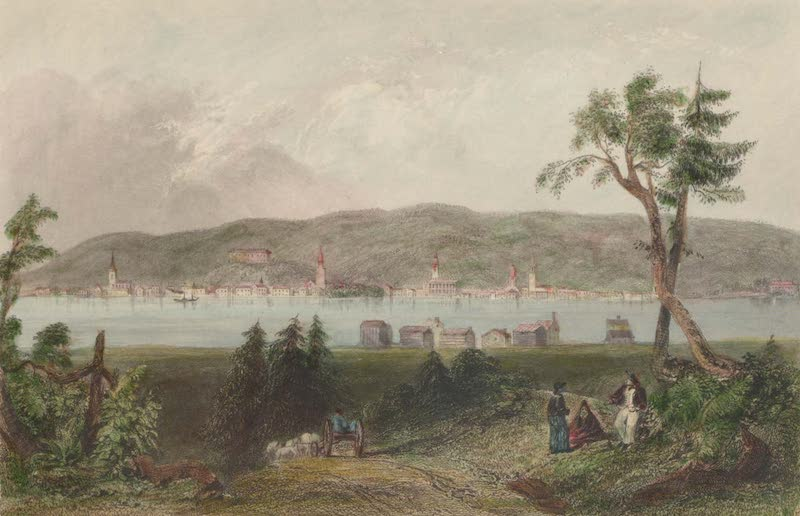 Canadian Scenery Illustrated: Volume 2 - Fredericton, New Brunswick (from opposite) (1865)