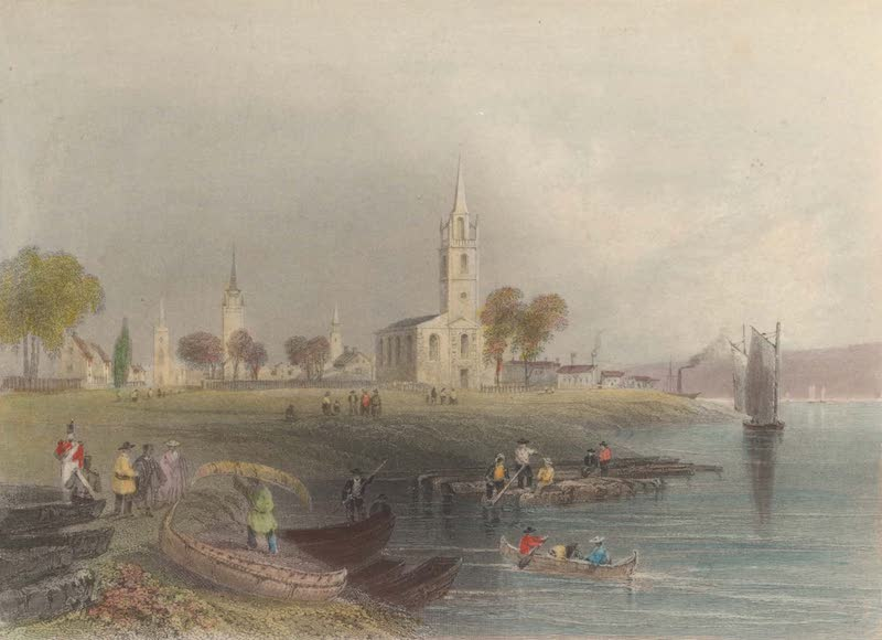 Canadian Scenery Illustrated: Volume 2 - The Green at Fredericton (1865)