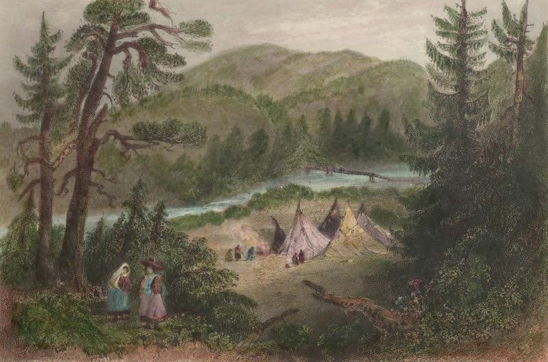 Canadian Scenery Illustrated: Volume 2 - The General's Bridge, near Annapolis Nova Scotia) (1865)