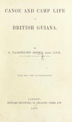 English - Canoe and Camp Life in British Guiana