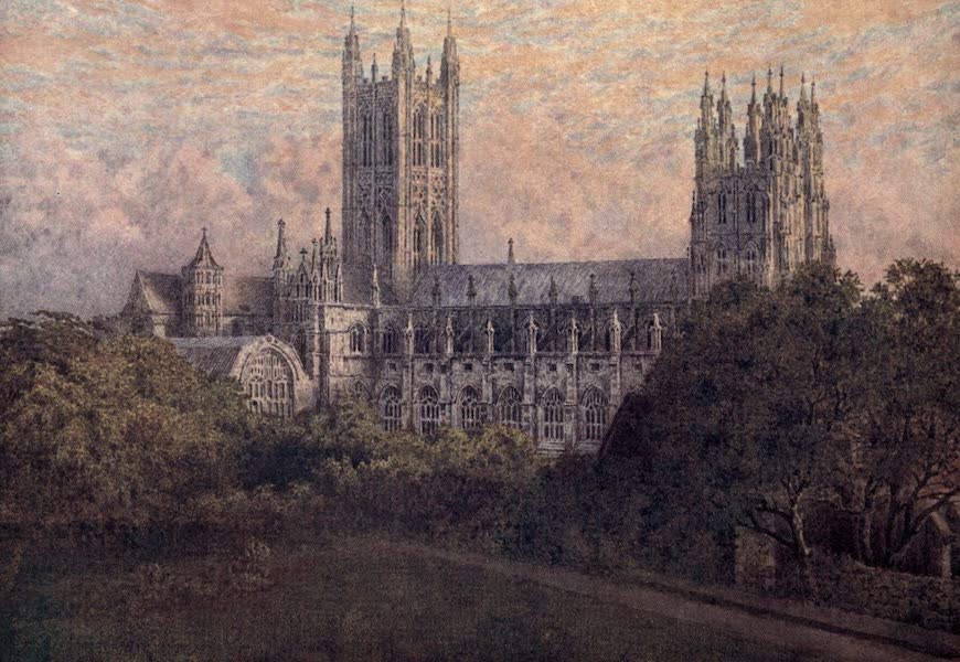 Canterbury Painted and Described - The North Side of the Cathedral (1907)