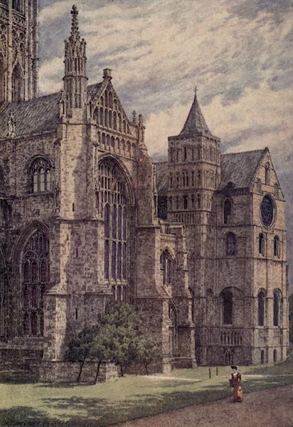 Canterbury Painted and Described - The South Side of the Cathedral (1907)