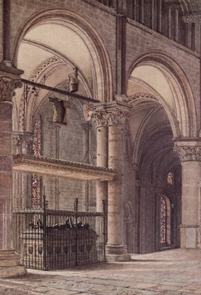 Canterbury Painted and Described - Edward the Black Prince's Tomb in Trinity Chapel (1907)