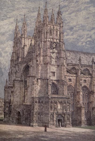Canterbury Painted and Described - The West Towers and South-West Entrance to the Cathedral (1907)