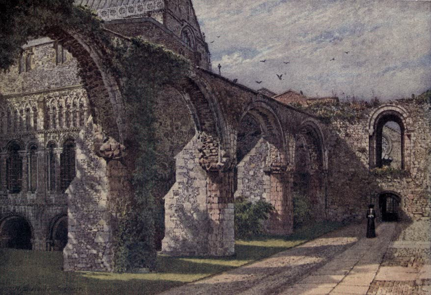 Canterbury Painted and Described - Ruins of the Infirmary (1907)