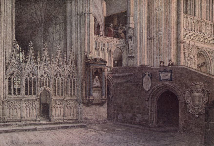 Canterbury Painted and Described - The Martyrdom, Canterbury Cathedral (1907)