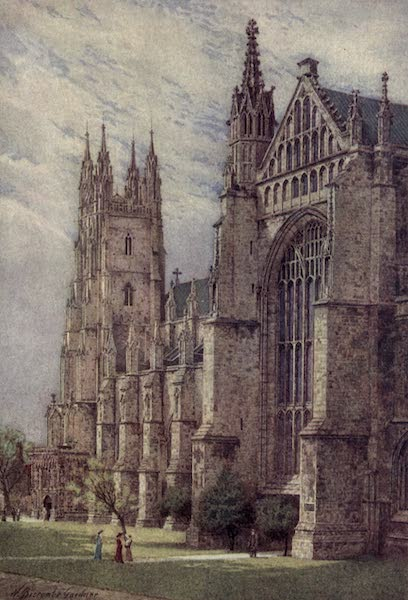 Canterbury Painted and Described - South-West Transept and St George's Tower (1907)