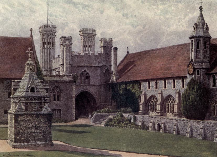 Canterbury Painted and Described - The Quadrangle, St Augustine's College (1907)