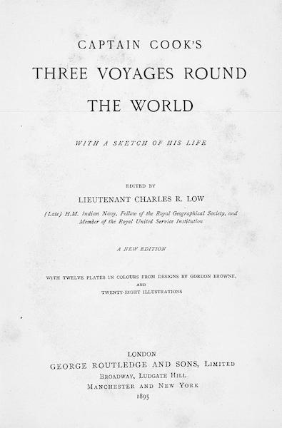 Captain Cook's Three Voyages Round the World - Title Page (1895)