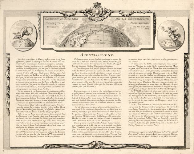 World - Cartes et Tables de la Geographie Physique ou Naturelle