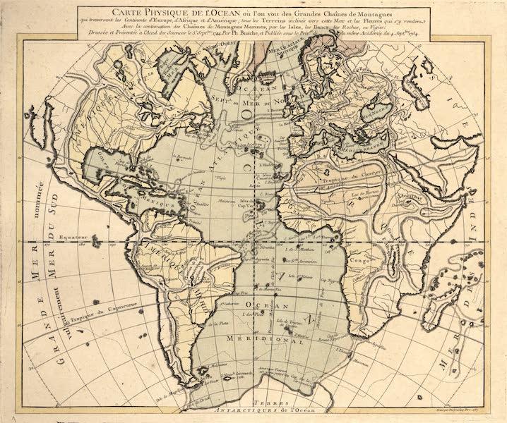 Carte physique de l'ocean