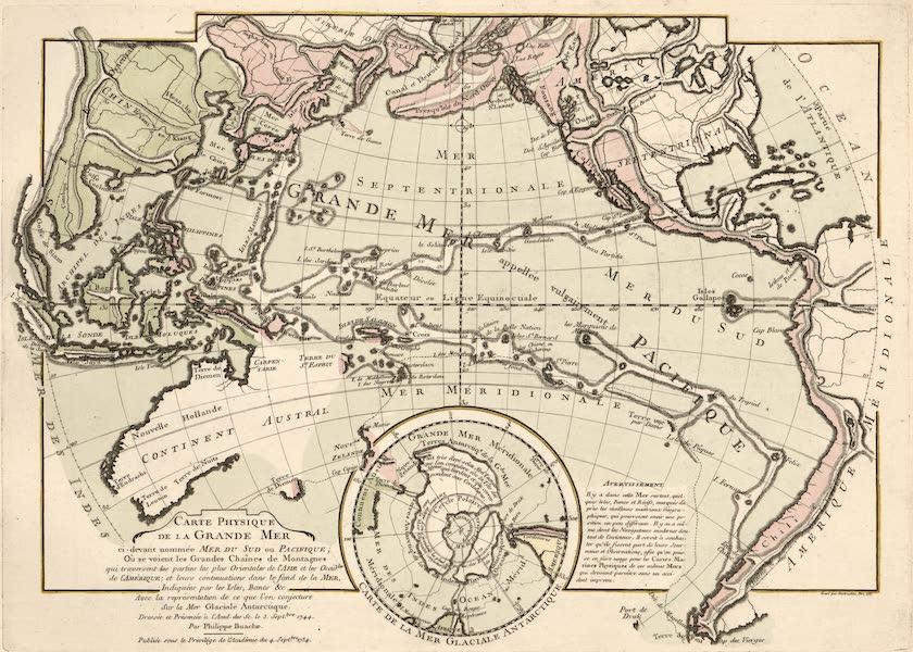 Cartes et Tables de la Geographie Physique ou Naturelle - Carte physique de la Grande mer (1757)