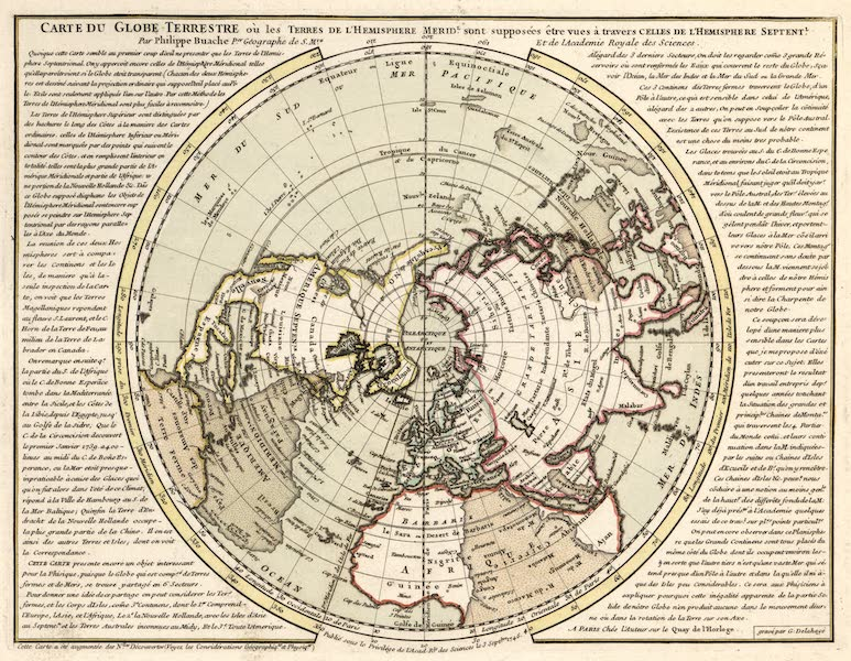 Carte du globe Terrestre