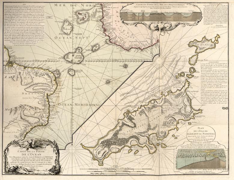 Carte de la partie de l'ocean