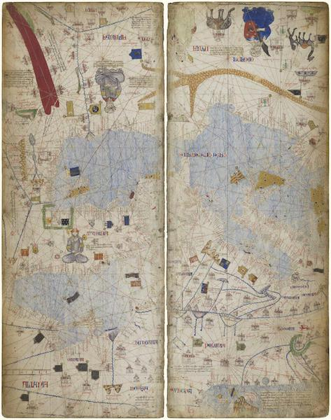 Catalan Atlas - Leafs 9 & 10 (1375)