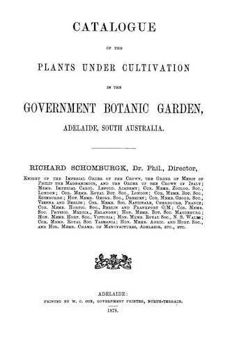 English - Catalogue of the Plants in the Government Botanic Garden