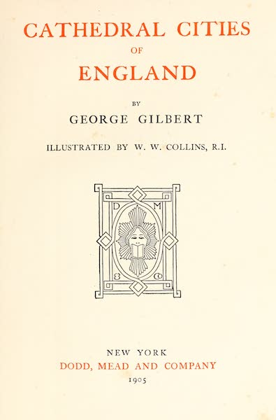 Cathedral Cities of England - Title Page (1905)