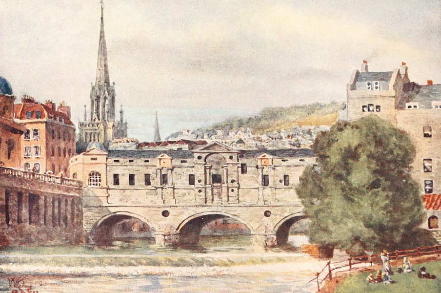 Cathedral Cities of England - Bath - Pulteney Bridge (1905)