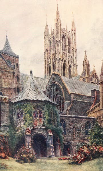 Cathedral Cities of England - Canterbury - The Baptistery and Chapter House (1905)