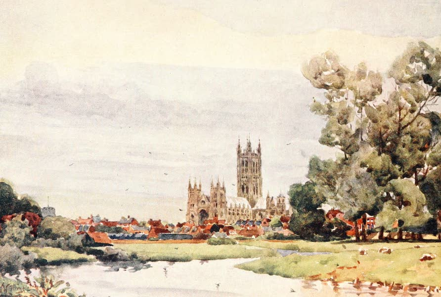 Cathedral Cities of England - Canterbury - From the Meadows (1905)