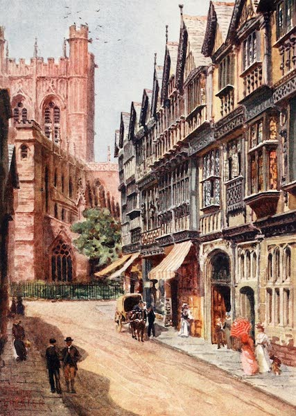 Cathedral Cities of England - Chester - St. Werburgh Street (1905)