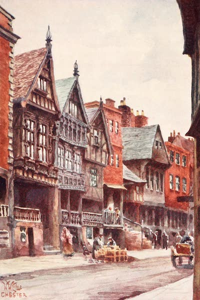 Cathedral Cities of England - Chester - Bishop Lloyd's Palace and Watergate Street (1905)