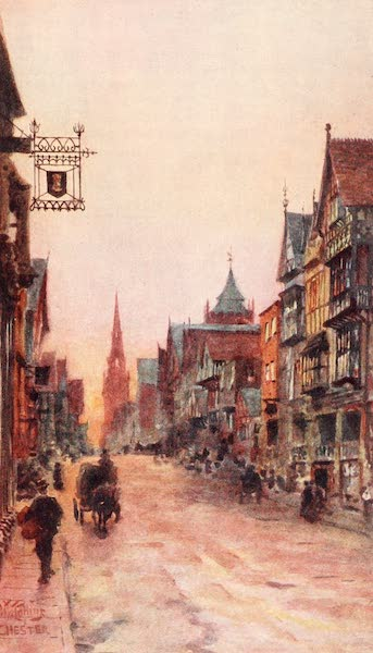 Cathedral Cities of England - Chester - Eastgate Street (1905)