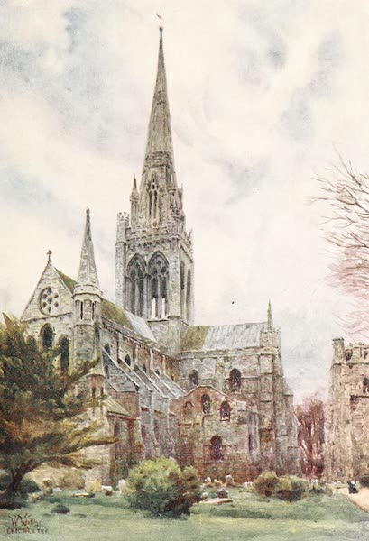 Cathedral Cities of England - Chichester - From the Northeast (1905)
