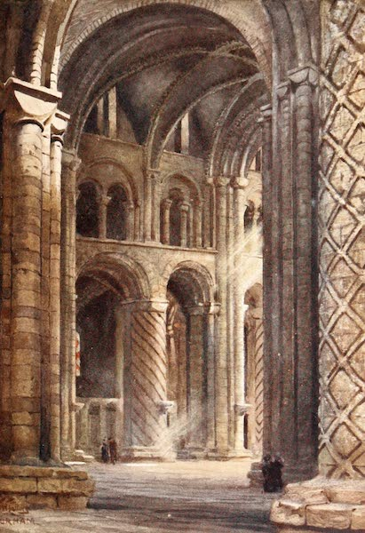 Cathedral Cities of England - Durham - Interior of Cathedral Looking Across the Nave into the South Transept (1905)