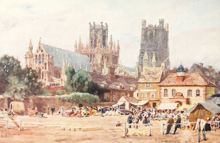 Cathedral Cities of England - Ely - The Market Place (1905)