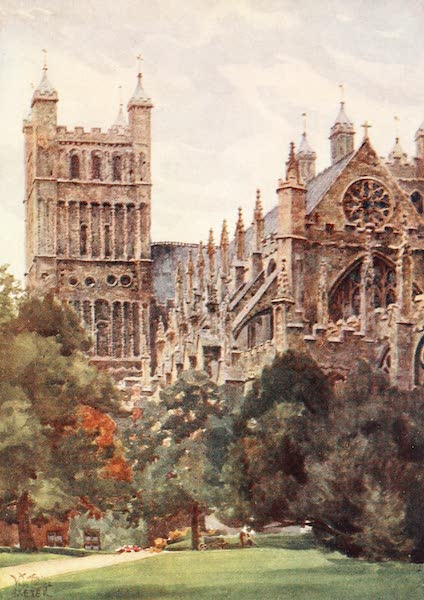 Cathedral Cities of England - Exeter - From the Palace Gardens (1905)