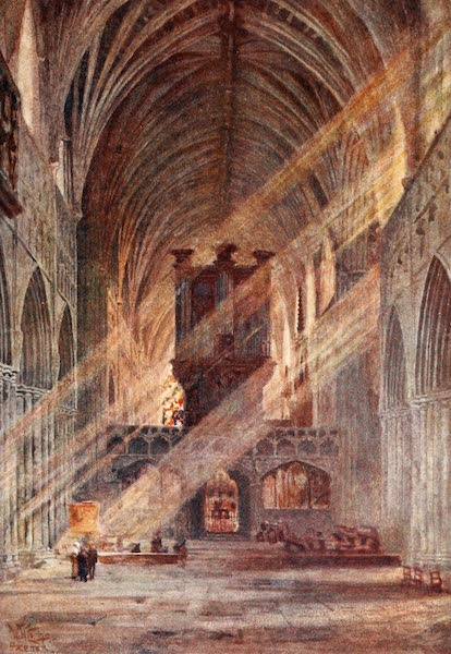 Cathedral Cities of England - Exeter - Interior of the Nave (1905)