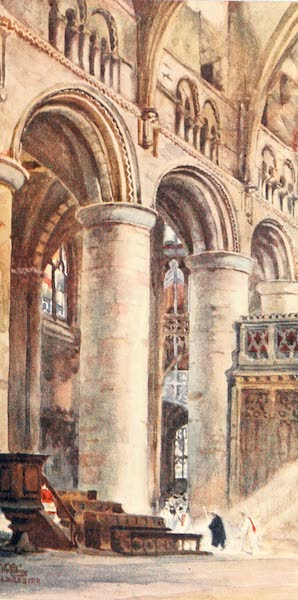 Cathedral Cities of England - Gloucester - Interior of the Nave (1905)
