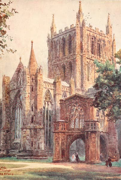 Cathedral Cities of England - Hereford - The North Transept (1905)