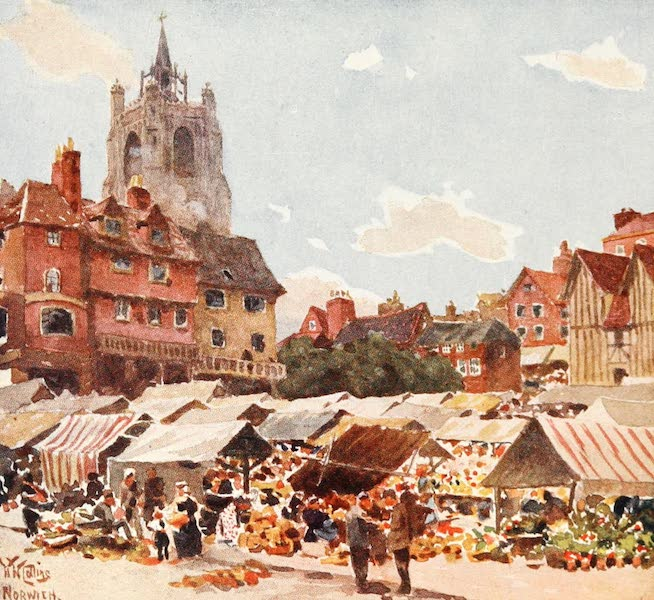 Cathedral Cities of England - Norwich - The Market Place (1905)