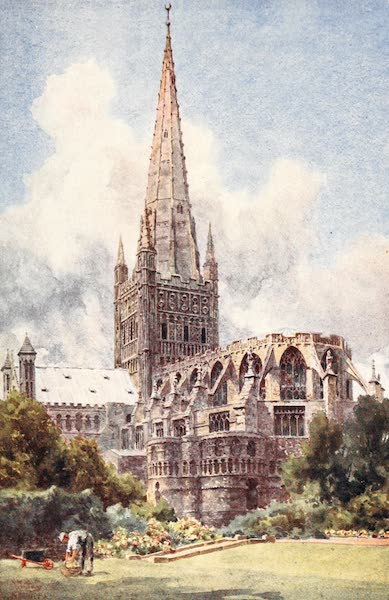 Cathedral Cities of England - Norwich - From the Northeast (1905)