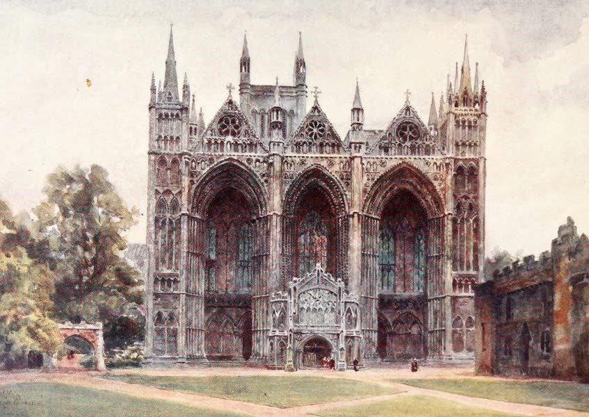 Cathedral Cities of England - Peterborough - The West Front (1905)