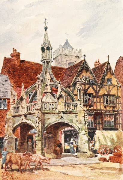 Cathedral Cities of England - Salisbury - The Market Cross (1905)