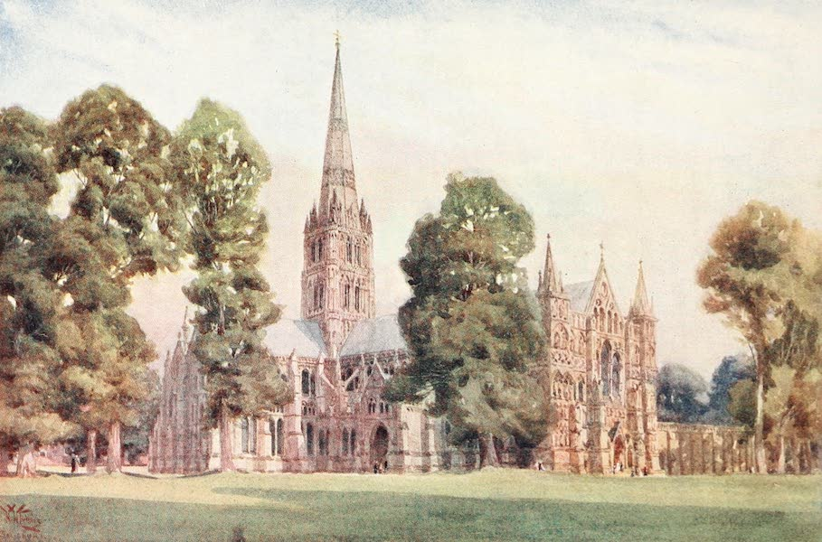 Cathedral Cities of England - Salisbury - The Cathedral (1905)