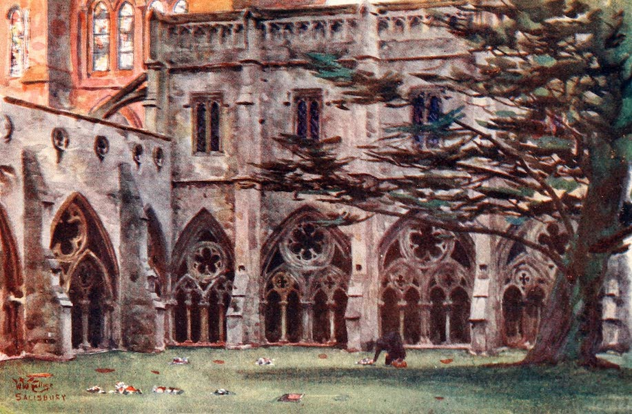 Cathedral Cities of England - Salisbury - The Cloisters (1905)