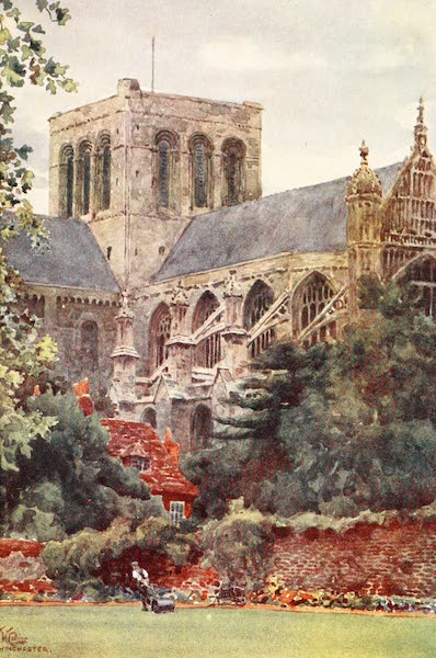 Cathedral Cities of England - Winchester - From the Deanery Garden (1905)