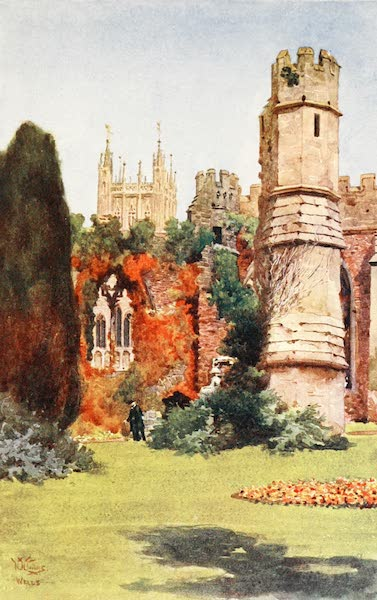 Cathedral Cities of England - Wells - The Ruins of the Banqueting Hall (1905)