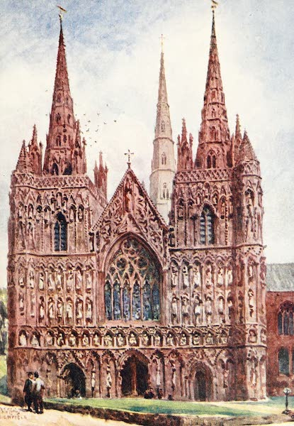 Cathedral Cities of England - Lichfield - The West Front (1905)