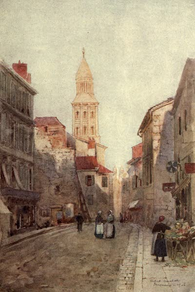 Cathedral Cities of France - A Street in Perigueux (1907)