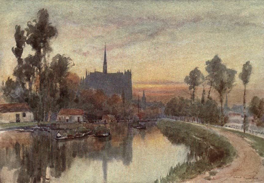 Cathedral Cities of France - Evening on the Somme at Amiens (1907)
